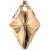 Swarovski Pendant 6320 Rhombus 19mm Golden Shadow Crystal
